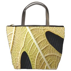 Yellow Leaf Fig Tree Texture Bucket Bags