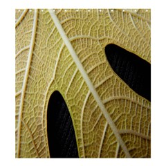 Yellow Leaf Fig Tree Texture Shower Curtain 66  x 72  (Large)