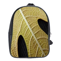 Yellow Leaf Fig Tree Texture School Bags(Large)