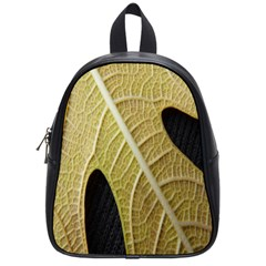 Yellow Leaf Fig Tree Texture School Bags (Small)