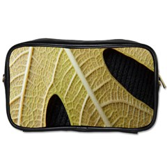 Yellow Leaf Fig Tree Texture Toiletries Bags 2-Side