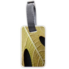 Yellow Leaf Fig Tree Texture Luggage Tags (One Side)
