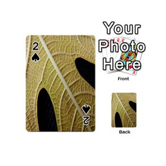 Yellow Leaf Fig Tree Texture Playing Cards 54 (Mini)