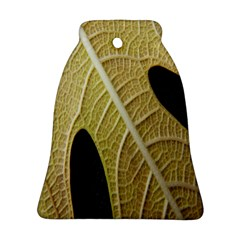 Yellow Leaf Fig Tree Texture Ornament (Bell)