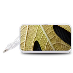 Yellow Leaf Fig Tree Texture Portable Speaker (White)