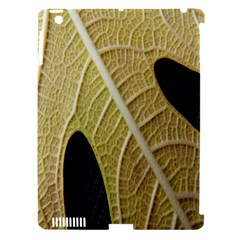 Yellow Leaf Fig Tree Texture Apple iPad 3/4 Hardshell Case (Compatible with Smart Cover)