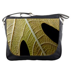 Yellow Leaf Fig Tree Texture Messenger Bags