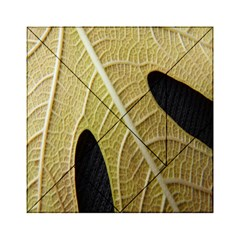 Yellow Leaf Fig Tree Texture Acrylic Tangram Puzzle (6  x 6 )