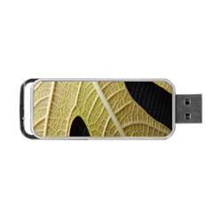 Yellow Leaf Fig Tree Texture Portable USB Flash (One Side)