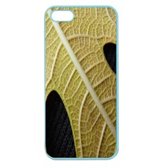 Yellow Leaf Fig Tree Texture Apple Seamless iPhone 5 Case (Color)
