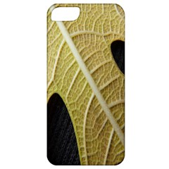 Yellow Leaf Fig Tree Texture Apple iPhone 5 Classic Hardshell Case