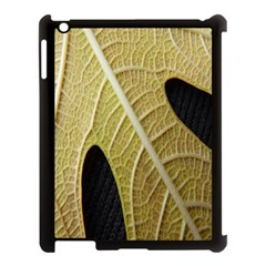 Yellow Leaf Fig Tree Texture Apple iPad 3/4 Case (Black)