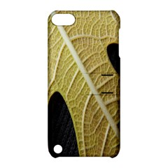 Yellow Leaf Fig Tree Texture Apple Ipod Touch 5 Hardshell Case With Stand