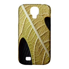 Yellow Leaf Fig Tree Texture Samsung Galaxy S4 Classic Hardshell Case (PC+Silicone)