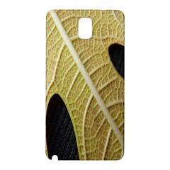 Yellow Leaf Fig Tree Texture Samsung Galaxy Note 3 N9005 Hardshell Back Case