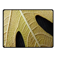 Yellow Leaf Fig Tree Texture Double Sided Fleece Blanket (Small)