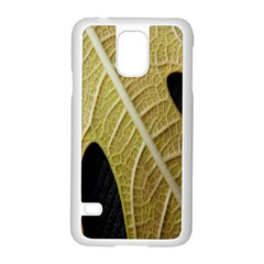 Yellow Leaf Fig Tree Texture Samsung Galaxy S5 Case (white)