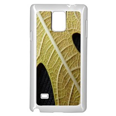 Yellow Leaf Fig Tree Texture Samsung Galaxy Note 4 Case (White)