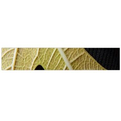 Yellow Leaf Fig Tree Texture Flano Scarf (Large)
