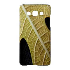 Yellow Leaf Fig Tree Texture Samsung Galaxy A5 Hardshell Case