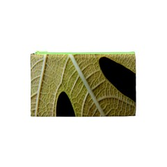Yellow Leaf Fig Tree Texture Cosmetic Bag (XS)