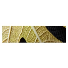 Yellow Leaf Fig Tree Texture Satin Scarf (Oblong)