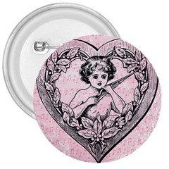 Heart Drawing Angel Vintage 3  Buttons