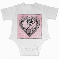 Heart Drawing Angel Vintage Infant Creepers