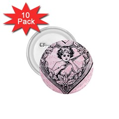 Heart Drawing Angel Vintage 1.75  Buttons (10 pack)