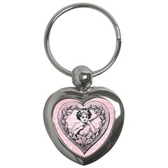 Heart Drawing Angel Vintage Key Chains (Heart)