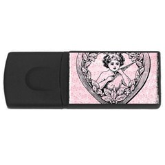 Heart Drawing Angel Vintage USB Flash Drive Rectangular (1 GB)