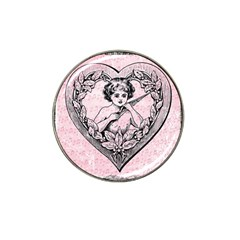Heart Drawing Angel Vintage Hat Clip Ball Marker