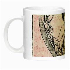 Heart Drawing Angel Vintage Night Luminous Mugs