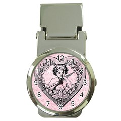 Heart Drawing Angel Vintage Money Clip Watches