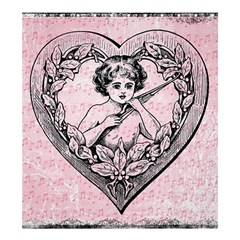 Heart Drawing Angel Vintage Shower Curtain 66  x 72  (Large)
