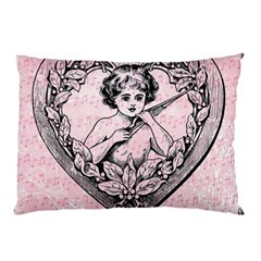 Heart Drawing Angel Vintage Pillow Case (Two Sides)