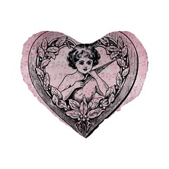 Heart Drawing Angel Vintage Standard 16  Premium Heart Shape Cushions