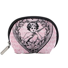 Heart Drawing Angel Vintage Accessory Pouches (Small)