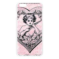 Heart Drawing Angel Vintage Apple Seamless iPhone 6 Plus/6S Plus Case (Transparent)