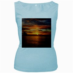 Sunset Sea Afterglow Boot Women s Baby Blue Tank Top