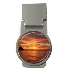 Sunset Sea Afterglow Boot Money Clips (round)