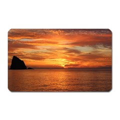 Sunset Sea Afterglow Boot Magnet (Rectangular)