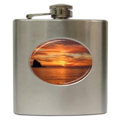 Sunset Sea Afterglow Boot Hip Flask (6 oz)