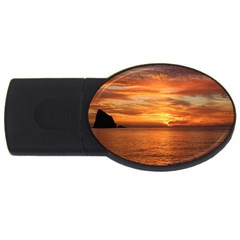 Sunset Sea Afterglow Boot USB Flash Drive Oval (2 GB)