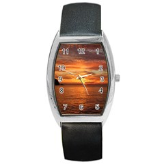 Sunset Sea Afterglow Boot Barrel Style Metal Watch
