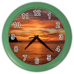 Sunset Sea Afterglow Boot Color Wall Clocks