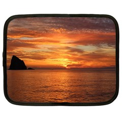 Sunset Sea Afterglow Boot Netbook Case (Large)