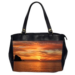 Sunset Sea Afterglow Boot Office Handbags (2 Sides)