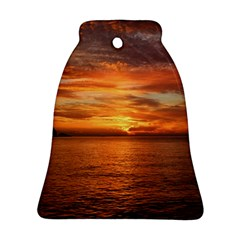 Sunset Sea Afterglow Boot Bell Ornament (Two Sides)