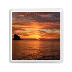Sunset Sea Afterglow Boot Memory Card Reader (Square)
